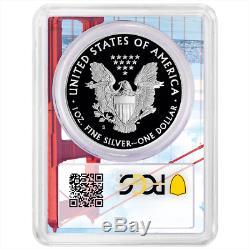 2019-S Proof $1 American Silver Eagle PCGS PR70DCAM FDOI Golden Gate Frame