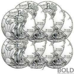 2019 Silver 1 oz American Eagle BU (10 Coins)