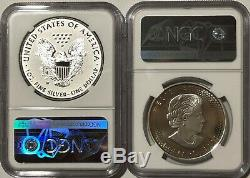 2019 W $1 & $5 Silver Reverse Proof Ngc Pf69 Er Pride Of Two Nations 2 Coin Set