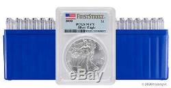 2020 $1 American Silver Eagle PCGS MS70 First Strike Lot of 20