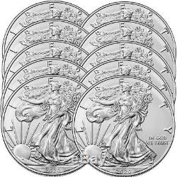 2020 1 oz American Silver Eagle Coin Brilliant Uncirculated Lot of 10