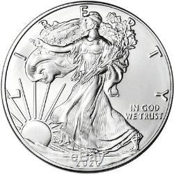2020 American Silver Eagle 1 oz $1 1 Roll Twenty 20 BU Coins in Mint Tube
