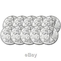2020 American Silver Eagle 1 oz $1 BU Ten 10 Coins
