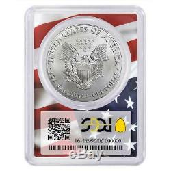 2020 (P) $1 American Silver Eagle PCGS MS70 Emergency Production Trump 45th Pres