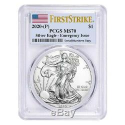 2020 (P) 1 oz Silver American Eagle PCGS MS 70 FS Emergency Issue