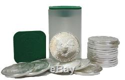 2020 Roll of 20 Silver American Eagle BU 1oz American Silver Eagles $1 Coins