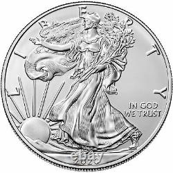 2020-(W) 1oz Silver American Eagle $1 Coin PCGS MS 70 First Strike (West Point)