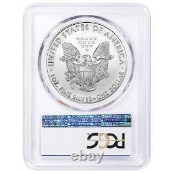 2020-W Burnished $1 American Silver Eagle PCGS SP70 West Point Label