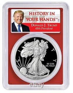 2020 W Congratulations Silver Eagle PCGS PR70 First Day Donald Trump