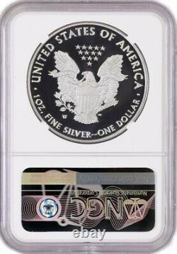 2020 W End Of WWII 75TH V75 Proof Silver American Eagle NGC PF70 ER LIVE IN HAND