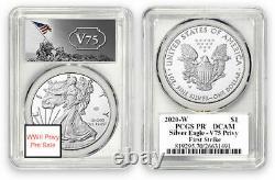 2020 W End of World War II 75th American Silver Eagle V75 PCGS PF69 PRESALE
