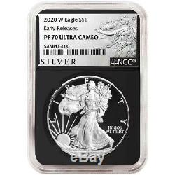 2020-W Proof $1 American Silver Eagle NGC PF70UC ALS ER Label Retro Core