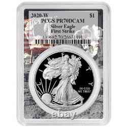 2020-W Proof $1 American Silver Eagle PCGS PR70DCAM First Strike Apollo Frame