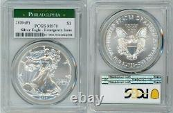 2020 (p) Silver American Eagle $1 Emergency Issue Pcgs Ms70 Philadelphia