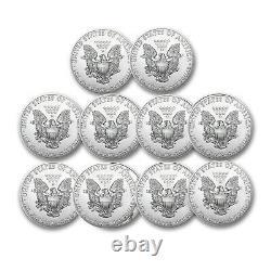 2021 1 oz American Silver Eagle BU Lot of 10