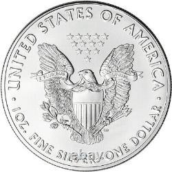 2021 American Silver Eagle 1 oz $1 BU Ten 10 Coins