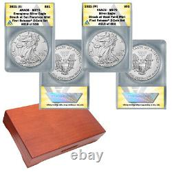 2021 American Silver Eagle MS70 First Release 2 coin set