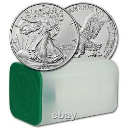2021 American Silver Eagle Type 2 1 oz $1 1 Roll Twenty 20 BU Coins in Mint Tube