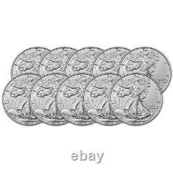 2021 American Silver Eagle Type 2 1 oz $1 BU Ten 10 Coins