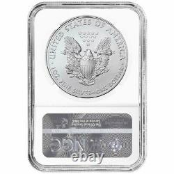 2021 (P) $1 American Silver Eagle NGC MS70 Emergency Production Brown Label