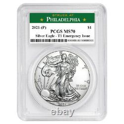 2021 (P) $1 American Silver Eagle PCGS MS70 Emergency Issue Philadelphia Label