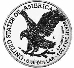 2021 S-American 1 Troy Oz. Silver Eagle NEW TYPE 2 Reverse Proof PRE-SALE