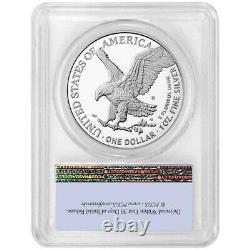 2021-S Proof $1 Type 2 American Silver Eagle PCGS PR70DCAM FS Flag Label