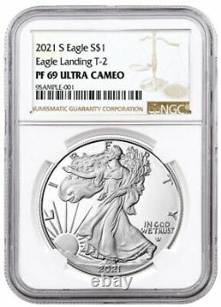 2021 S Proof American Silver Eagle Type 2 NGC PF69 UC Brown Label PRESALE