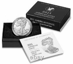 2021 S Type 2 American Silver Eagle PCGS PR70 Deep Cameo First Strike Flag Label