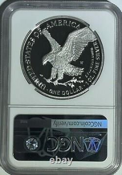 2021 W $1 T-2 Ngc Pf70 Fdi Ultra Cameo First Day Proof Silver Eagle Landing T-2
