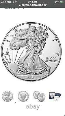 2021-W American Eagle One Ounce Silver Proof Coin
