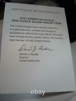 2021 (W) American Silver PROOF EAGLE LAST ISSUE HERALDIC EAGLE LOW MINTAGE