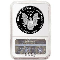 2021-W Proof $1 American Silver Eagle NGC PF70UC ER 35th Anniversary Label