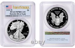 2021 W Silver American Proof Eagle $1 Heraldic Pcgs Pr70dcam First Strike