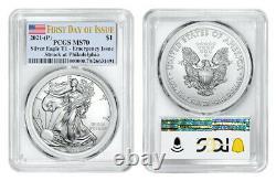 2021 (p) American Eagle $1 Emergency Issue Pcgs Ms70 Philadelphia Fdoi Flag