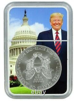 2021 (s) Emergency Production 1oz Silver Eagle NGC MS70 Trump Core