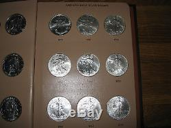 33 Coin Complete Set Silver American Eagle S In Dansco United States Dollars Gem