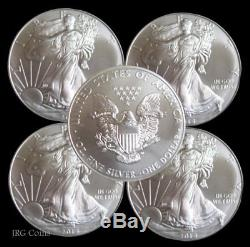 5 x 2018 American Eagle 1oz Silver Dollar Bullion Coin