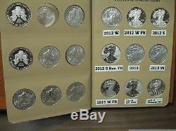 AMERICAN EAGLE SILVER DOLLAR SET 1986-2020 / 93 pcs. Withproofs, S, Burnished, Rev PR