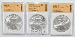 America's Largest AMERICAN EAGLE Silver Dollar Collection 1986-2007 CPS309