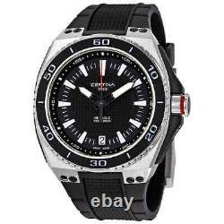 Certina DS Eagle Black Dial Black Rubber Men's Watch C023.710.27.051.00