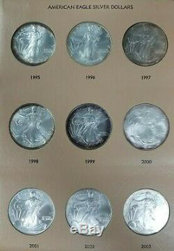 Complete American Silver Eagle Set 1986-2020 35 Coins Nice Old Album Toned I526