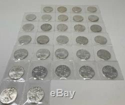 Complete Set from 1986 to 2016 AMERICAN SILVER EAGLE1 Oz. 999 Silver (31 COINS)
