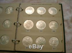 Complete set of American Eagle Silver Dollars unc. 1986 2020