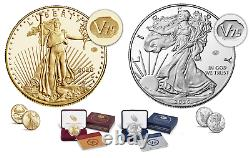 End of World War II 75th Anniversary American Eagle GOLD & SILVER Proof Coin SET