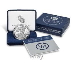 End of World War II 75th Anniversary American Eagle Silver Proof Coin IN HAND