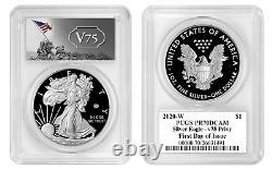 Live 2020 W Proof $1 American Silver Eagle WWII 75th PCGS PR70DCAM FDOI V75
