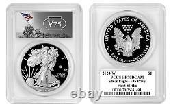 Live 2020 W Proof $1 American Silver Eagle WWII 75th PCGS PR70DCAM FS V75