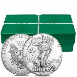 Lot of 100 2021 1 oz Silver American Eagle $1 Coin BU (5 Roll, Tube of 20)