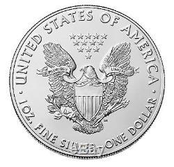 Lot of 10 2018 $1 1oz Silver American Eagle 0.999 BU